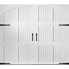 Amarr Classica 3000 White Carriage House Garage Door