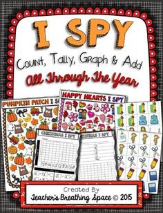 ***50% Off For The First 48 Hours***Count, Tally, Graph and Add Through The Year allows young learners to practice counting, making tally marks, constructing simple graphs and adding numbers 1-9.