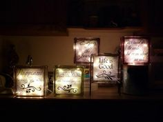 Frosted Glass Blocks for Crafts | Etched quotes onto glass blocks