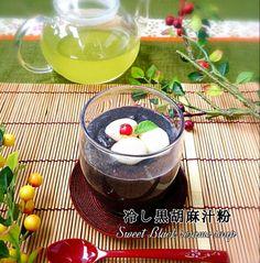 ★冷し黒ごま汁粉★ by B L U E at 2015-06-07