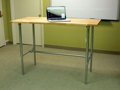 If you are interested in trying out a standing desk, but you're not sure that you want to make the long term commitment, this is definitely the desk for you. This adjustable height desk can adjust from standard sitting desk height to standing desk height with a few simple adjustments.