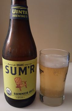Uinta Sum'r is a 4 ABV American Blonde Ale.  The appearance is hazy yellow and the nose light malt and grain.  The flavor follows, light malty grain, a little bready, finishing grassy and bitter with some fruit and spice notes throughout.  The mouthfeel is very light and the carbonation bubbly.   Blonde Ales can be pretty forgettable but Uinta can do a lot even with this typically mild variety of beer.  At 4 ABV it's the very definition of sessionable.  A great one for easy warm weather…