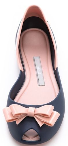 Pink cute bow flats