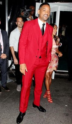 Will Smith dons his wild wild best in this brightly hued suit