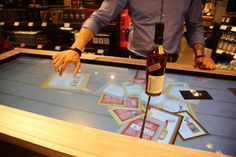 Beam Suntory's Interactive Booth Offers Bourbon Tasting at the Airport #interactive trendhunter.com