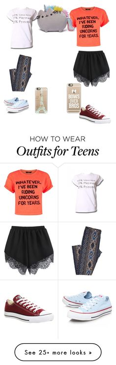 """""""Unicorns!!!!!!"""" by graciemaen on Polyvore featuring Converse and Casetify"""