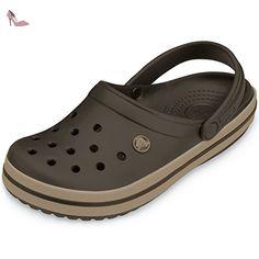 Crocs - Crocband - Taille 43-44 (M10/W12) - Couleur espresso/khaki - Chaussures crocs (*Partner-Link)