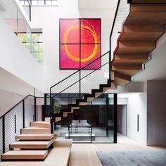 Artist Studio , an old artists studio in London was refurbished into a modern family home which featured steel-framed glazing systems and several frameless glazing products. Internal Sliding Doors, Sliding Door Systems, Sliding Glass Door, Modern Family, Home And Family, Walking On Glass, Frameless Glass Balustrade, Chelsea London, White Interior Design
