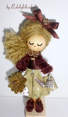 Brooch  jewelry doll