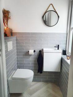 Downstairs Loo, Basement Bathroom, Bathroom Inspiration, Home Decor Inspiration, Mini Loft, Modern Toilet, Interior Architecture, Interior Design, Apartment Design