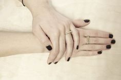 Smile arch ring in Sterling Silver & Bronze / by BEPARTstudio, €29.00