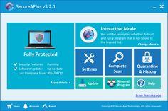 SecureAPlus main interface