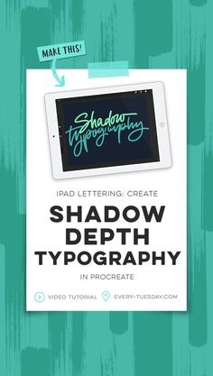 iPad Lettering tutorial: Create shadow depth typography in Procreate | free video: every-tuesday.com via @teelac