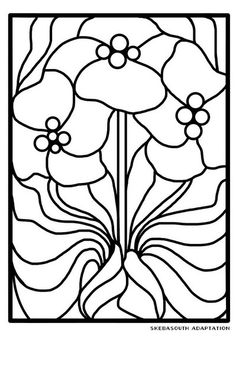 Bleu -- to use as stained glass pattern or color page.  Enjoy.  :)