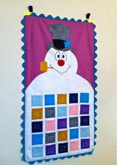 Frosty Advent Calendar Tutorial