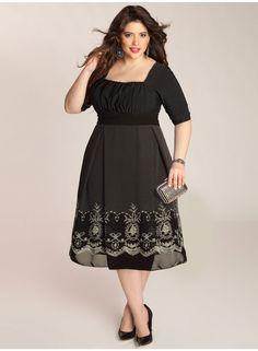 Hayleigh Plus Size Dress in Black - Dresses by IGIGI