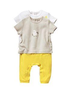 Lot de 2 pyjamas 2 pièces coton bébé mixte, Bébé