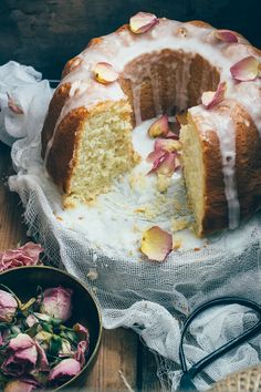Greek Yoghurt Olive Oil Cake with Orange Blossom Glaze