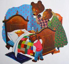 Goldilocks & the Three Bears. Illustrator unknown.