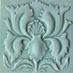 Wall tile Art Nouveau IRIS green