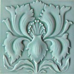 Wall tile Art Nouveau IRIS green