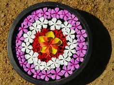 Simple Water Rangoli/Flower Decoration