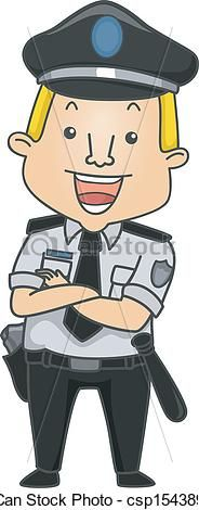guard clip Art | Vector - Occupation Security Guard - stock illustration, royalty free ...