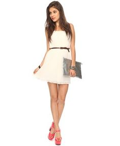 Pleated Chiffon Dress   FOREVER21