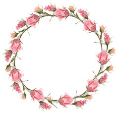 View album on Yandex. Frame Floral, Flower Frame Png, Wreath Watercolor, Watercolor Flowers, Watercolor Art, Wreath Drawing, Borders And Frames, Flower Quotes, Oval Frame