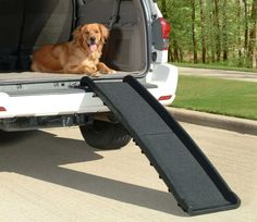 Your copilot will never have to struggle to get in the car with this ramp!