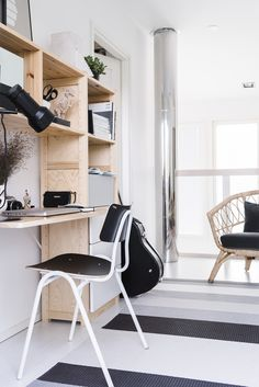 Do you work from home? Maybe you spend several hours each week bringing work back home from the office? If that is indeed the case, then having a dedicated home office surely helps in making the whole experience a lot… Continue Reading → Scandinavian Interior Design, Scandinavian Living, Eclectic Furniture, Modern Furniture, Small Apartments, Small Spaces, Home Office, Colour Blocking Interior, Lund