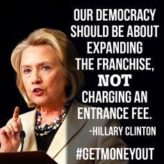 #HillaryClinton #GetMoneyOut #CitizensUnited