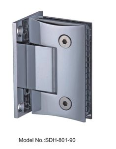 90 degree round bevel edged style shower door hinges glass to wallsdh801