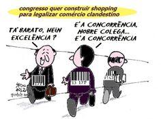 Congresso quer construir shopping para legalizar serviço e comércio clandestino...
