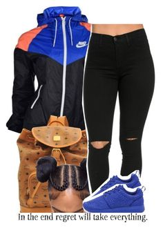 """""""nike.."""" by trinityannetrinity ❤ liked on Polyvore featuring NIKE and MCM"""