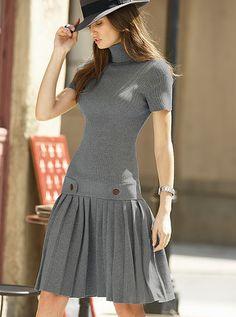 Victoria s secret plisowana sukienka z dzianiny  L