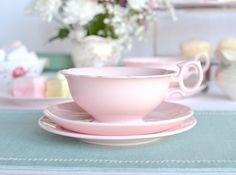 Wedgwood Alpine Pink tea set vintage tea cup by NancysVintageChina
