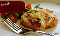 Delicious Avocado Chicken Parmesan #sixsistersstuff #chickenparmesan #avocado