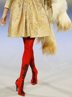 red tights! Christian Lacroix haute couture f/w 2006