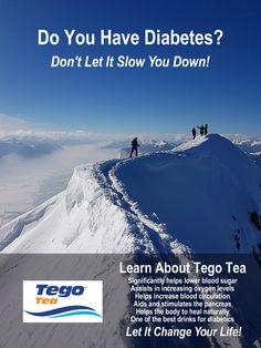 Tego Tea for Type 2 Diabetes Diabetic Drinks, Regulate Blood Sugar, Kidney Health, Lower Blood Sugar, Natural Cures, Fun Drinks, Helping People, Diabetes, Health Tips