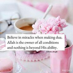 Believe in Allah when make Muslim Love Quotes, Islamic Love Quotes, Islamic Inspirational Quotes, Religious Quotes, Arabic Quotes, Allah Islam, Islam Muslim, Islam Quran, Quran Pak