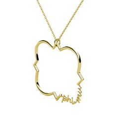"""A thin quatrefoil outline featuring Phi Mu script shaping the barbed quatrefoil. Pendant slides on a delicate 16""""-18"""" adjustable box link chain."""