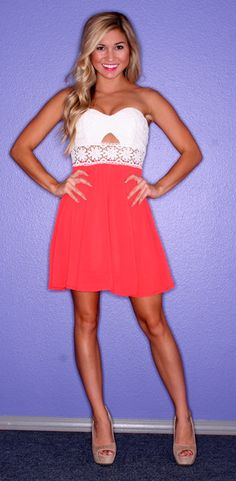 Charmed Always Coral, $52