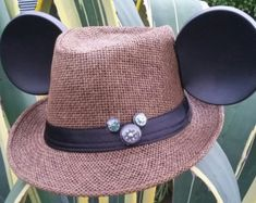 d056a1748c0c1 Mickey Mouse Ears. Mickey Mouse Fedora Hat. Original Disneyland Hat ...