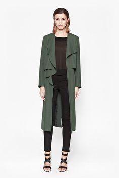Cassie Drape Double Layer Coat