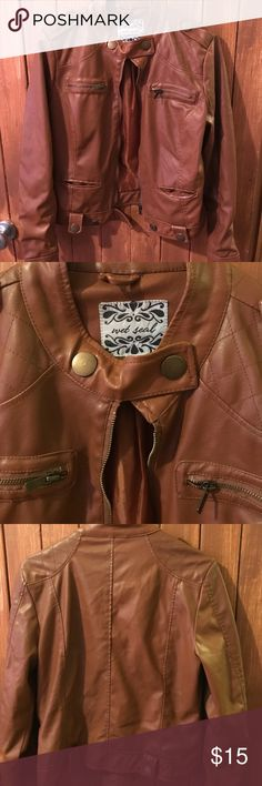 Wet Seal brown leather jacket Wet Seal brown leather jacket!! No snags or scuffs!! Great condition. Jackets & Coats
