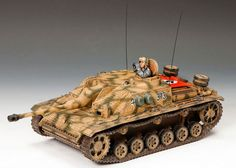 World War II German Winter BBG049 Stug III Ausf. G Tank set - Made by King and Country Military Miniatures and Models. Factory made, hand assembled, painted and boxed in a padded decorative box. Excellent gift for the enthusiast.