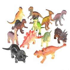 "Joyin Toy 18 Pieces 6/"" to 9/"" Educational Realistic Dinosaur Figures with Mova..."