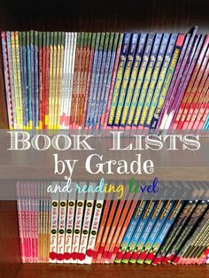 Accelerated reader levels by color and book suggestions for each level and color.
