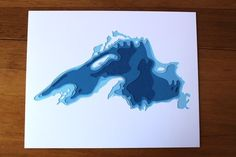 Lake Superior original 8 x 10 papercut art by Crafterall on Etsy Superior Tattoo, Rocky Shore, Paper Cutting, Geology, Prehistoric, Artsy Fartsy, Home Art, Paper Art, Opera